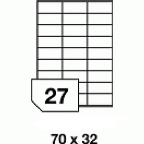 Hârtie autocolantă - 27 buc./A4, dimensiune 70x32 mm