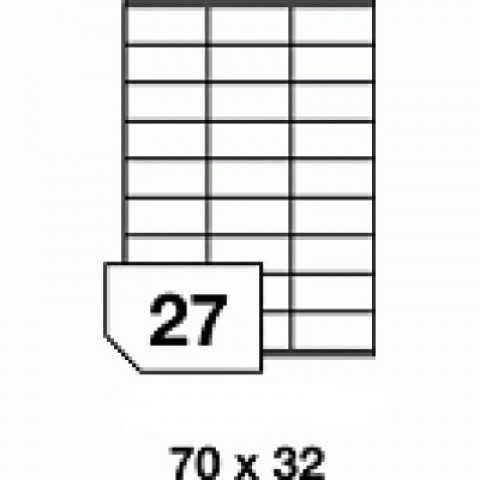 Etichete autoadezive multifuncţionale - 27 buc./A4, dimensiune 70x32 mm