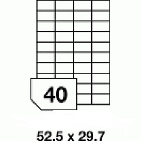 Etichete autoadezive multifuncţionale - 40 buc./A4, dimensiune 52.5x29.7 mm