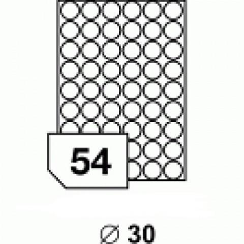 Hârtie autocolantă rotundă 30 mm