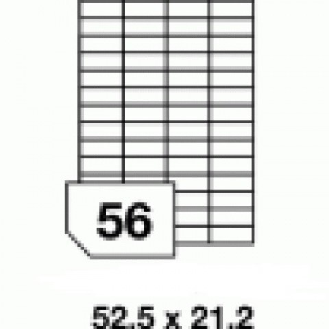 Hârtie autocolantă - 56 buc./A4, dimensiune 52.5x21.2 mm