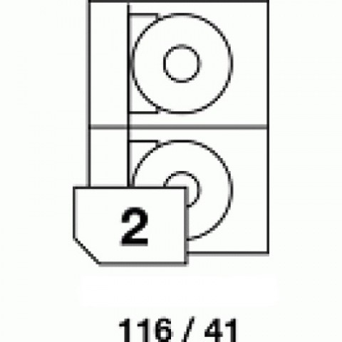 Hârtie autocolantă pentru CD, dimensiune 116x41 mm