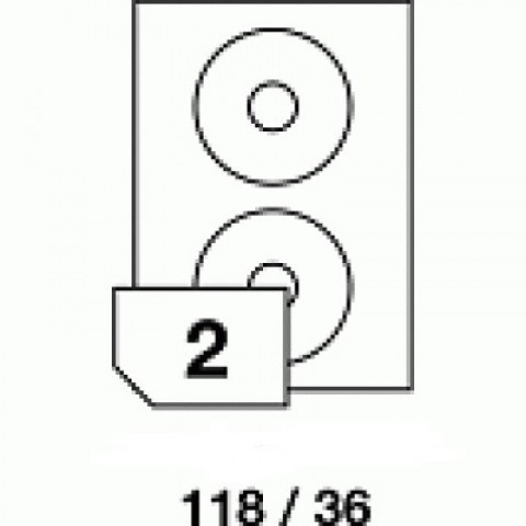 Hârtie autocolantă pentru CD, dimensiune 118x36 mm