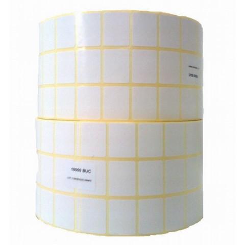 Etichete autoadezive termice în rolă, 30x15 mm, 3 pe rand