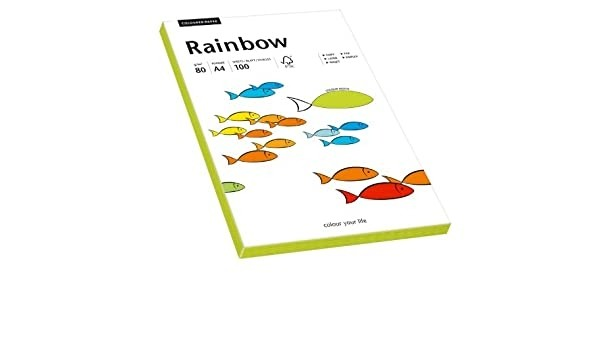 Hartie colorata, verde neon, Rainbow, A4, 80 g/mp