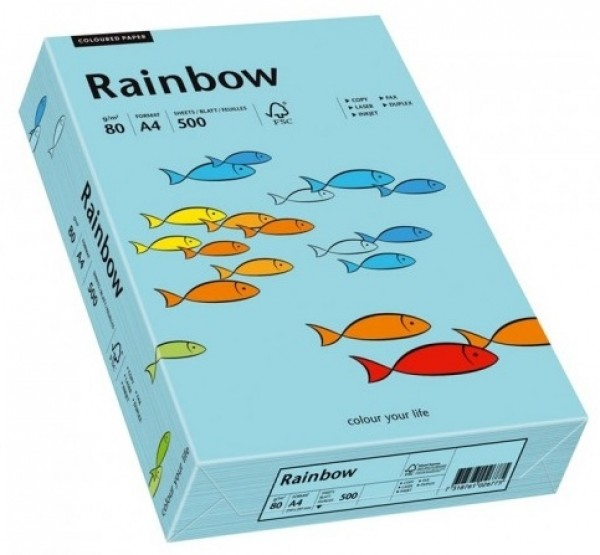 Hartie colorata, albastru pal, A4, 160 g/mp,  Rainbow