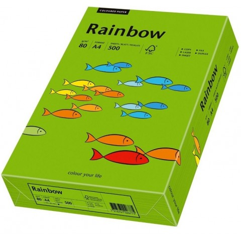 Hartie colorata, verde crud, A4, 80 g/mp, Rainbow