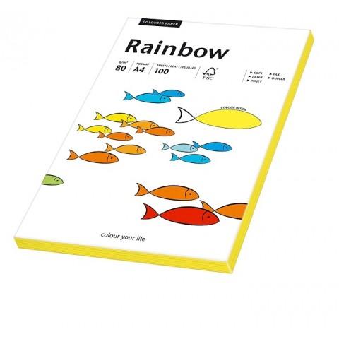 Hartie colorata, galben neon, Rainbow, A4, 80 g/mp