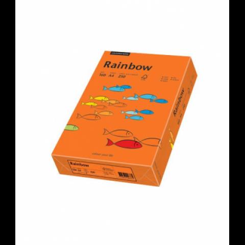 Hartie colorata, portocaliu intens, A4, 80 g/mp, Rainbow
