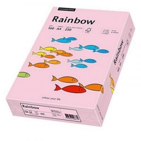 Hartie colorata, roz pal, A4, 80 g/mp, Rainbow