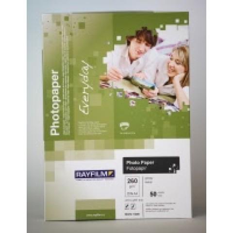 Hârtie inkjet, hârtie foto lucioasa, 10x15 cm, 260 g/mp