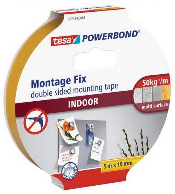 Banda dublu adeziva Tesa® Powerbond pentru interior 5 m X 19 mm