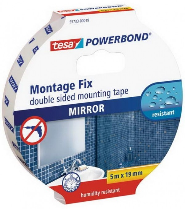 Banda dublu adeziva pentru oglinzi 5 m X 19 mm Tesa® Powerbond