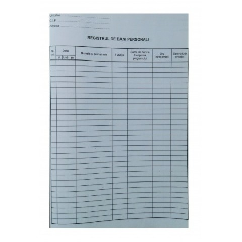 Registru de bani personali