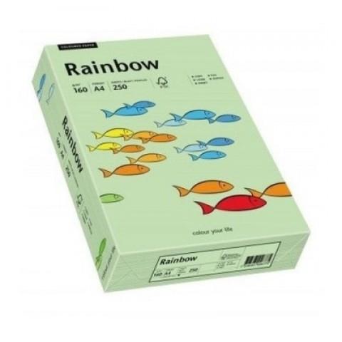 Hartie colorata, verde mediu, A4, 160 g/mp, Rainbow