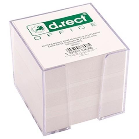 Cub hartie 9x9 cm alb in dispenser, 800 file, D.rect