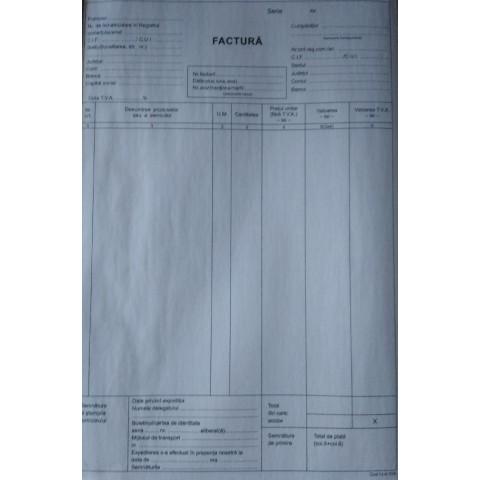 Facturier A4, cu TVA, 3 exemplare, personalizat