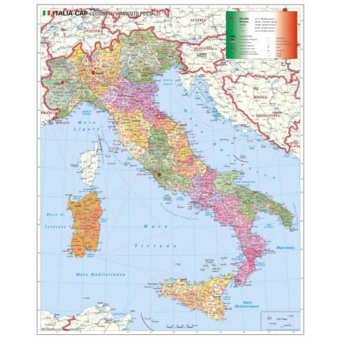Italia harta cu coduri poştale
