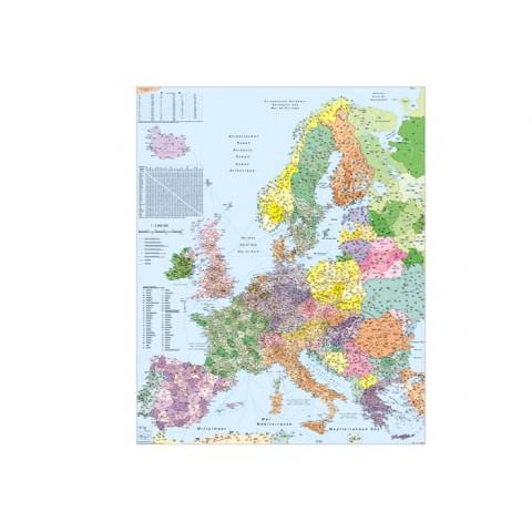Europa – harta cu coduri poştale