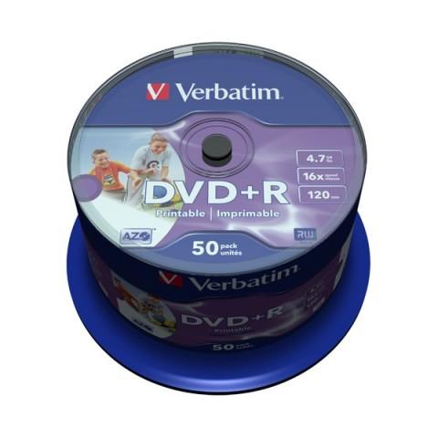 DVD+R 4,7GB 16X Verbatim 50/set printabil