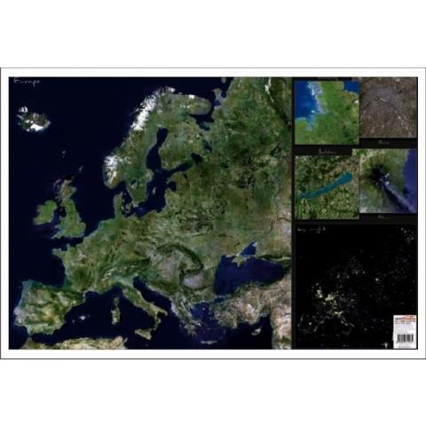 Europa Imagine din satelit – Mapa de birou