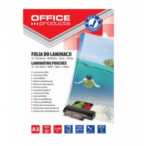Folie laminare, A3, 80 microni, Office