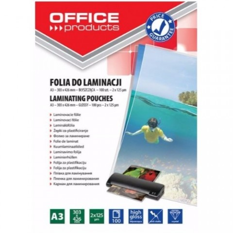 Folie laminare, A3, 125 microni, Office