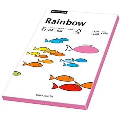 Hartie colorata, roz neon, Rainbow, A4, 80 g/mp