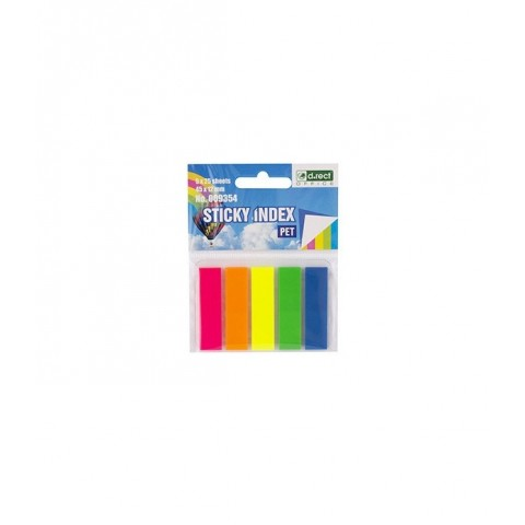 Post-it index film 12x45mm, 5 culori, D.rect