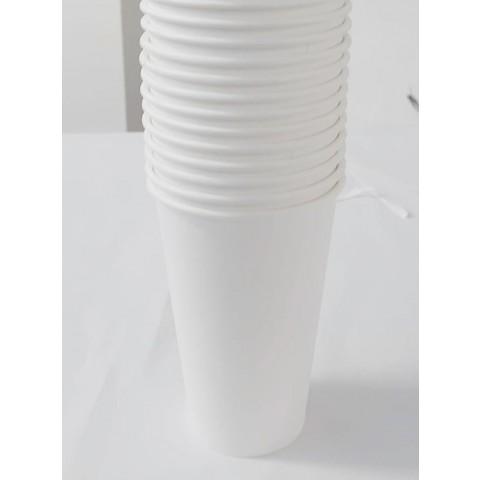 Set 50 pahare de carton, albe, 355 ml (12 oz)
