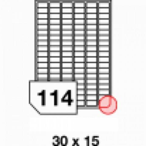 Etichete autoadezive multifuncţionale, 114 buc./A4, dimensiune 30x15 mm
