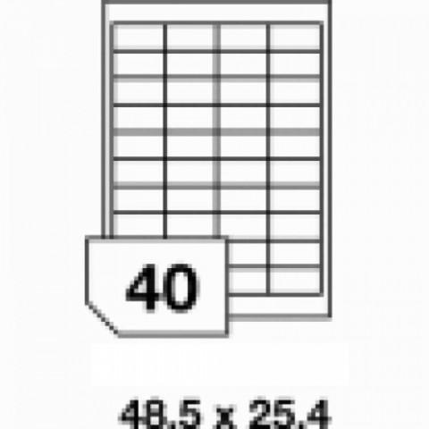 Etichete autoadezive multifuncţionale, 40 buc./A4, dimensiune 48.5x25.4 mm