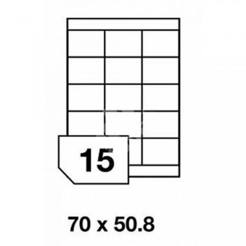 Etichete autoadezive multifuncţionale, 15 buc./A4, dimensiune 70x50.8 mm