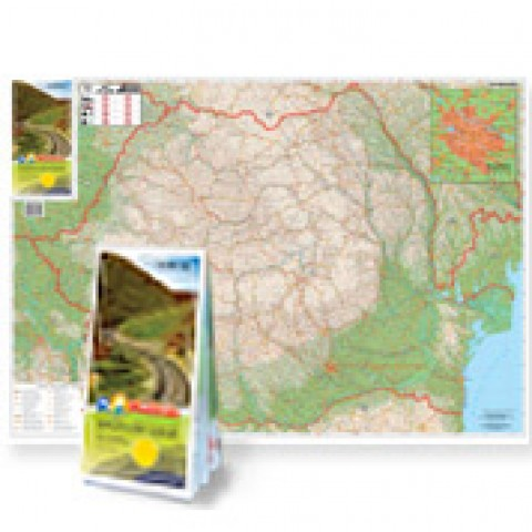 România Rutieră - Harta Pliabila