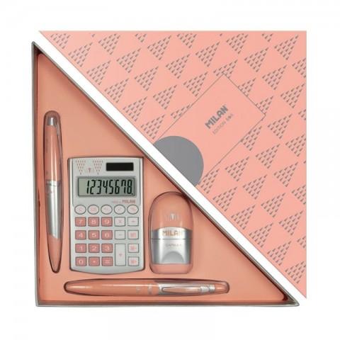 Set cadou calculator, silver, Milan