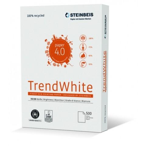 Hartie reciclata, A4, 80 grame, Trend White, Steinbeis