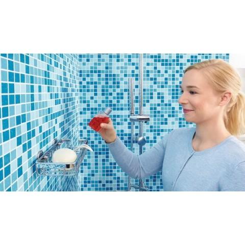 Poliță autoadezivă mică pentru duș tesa® Aluxx, aluminiu cromat.