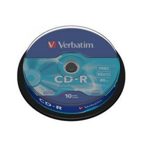 CD-R 10/set Verbatim 52X 700MB