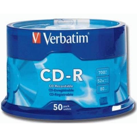 CD-R 700MB 52X Verbatim 50/set