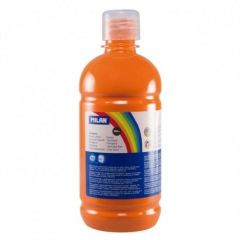 Tempera, 500 ml, portocaliu, Milan