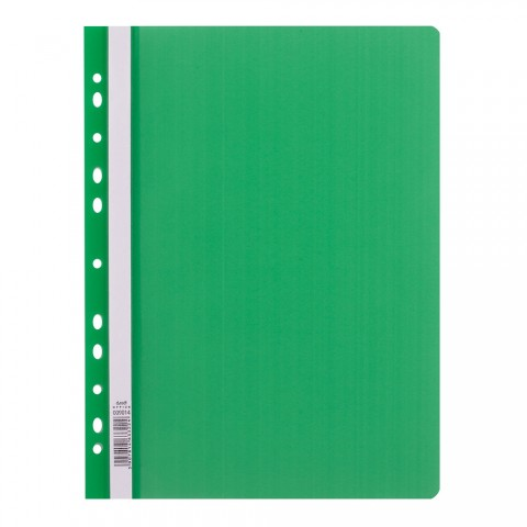 Dosar sina plastic, multiperforatii, verde, D.rect