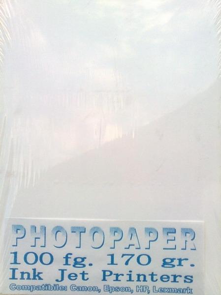 Hârtie inkjet, hârtie foto lucioasa